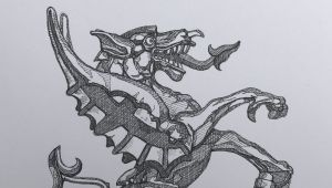 Pen and Ink Drawings Of Dragons Pen and Ink Drawing Of A Dragon Boundary Mark City Of London Art