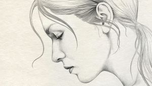 Pencil Drawing Of Girl Face Simple Pencil Drawing Of Lady Face Side Pencil