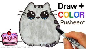 Pictures to Draw Easy Cute How to Draw Color Pusheen Cat Step by Step Easy Cute