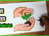 Plantation Drawing Easy How to Draw Save Trees Save Plants Cartoon Drawing Do Not