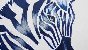 Safari Animal Drawings Blue Zebra Safari Nursery Art Zoo Animal Jungle theme Kids