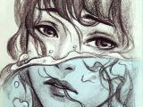 Semi Realistic Anime Drawings Semi Realistic Realistic Art Drawings Drowning Art