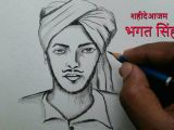 Shiva Drawing Images Easy How to Draw Republic Day Drawing for Beginners Bhagat Singh Drawing Easy