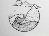 Simple and Easy Drawing Ideas Ocean and island Planner Doodles Sketches Drawings Art