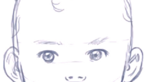 Simple Baby Drawing Easy How to Draw A Baby S Face Head with Step by Step Drawing