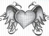 Simple Line Drawing Of A Heart Heart with Wings by Amanda11404 Deviantart Com On Deviantart