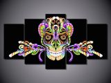 Skull Drawing Canvas 2019 Colorful Digital Skull Printed Painting No Frame Home Decor