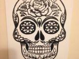 Skull Drawing Canvas 37 Best Sugar Skull Crafts Images Candy Skulls Sugar Skull Sugar