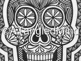 Skull Drawing Canvas original Zentangle Sugar Skull Drawing Cardstock Canvas Wall Art