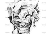 Skull Drawing Joker Foto Sketch Of Tattoo Art Clown Joker Bild 2066026