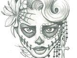Skull Drawing Minimalist Sugar Skull Lady Drawing Sugar Skull Two by Leelab On Deviantart