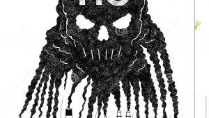 Skull Drawing Smoking Vector Artistic Drawing Illustration Of Smoke From Smokestacks