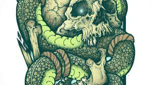 Skull Drawing Snake Skull Snake Tattoo Sleeve Ideas for Art Tattoos Snake Tattoo