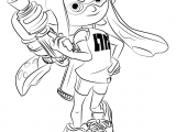 Splatoon 2 Easy Drawing Learn How to Draw Inkling Female From Splatoon Splatoon Step by