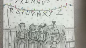 Stranger Things Drawing Logo My Stranger Things Drawing Don T Look at 11 Her Face is Weird
