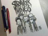 Stranger Things Drawing Pinterest Image Of Stranger Things Daily Sketch Character Stranger Things