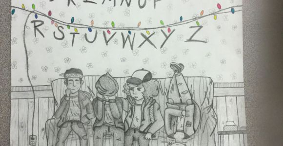 Stranger Things Drawing Will My Stranger Things Drawing Don T Look at 11 Her Face is Weird