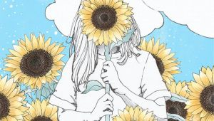 Sunflower Girl Drawing You are My Sunshine Print In 2019 Sunflower Drawing