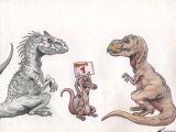T Rex Cartoon Drawing Indominus Rex Vs Tyrannosaurus Rex by theyahid On Deviantart