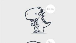 T Rex Drawing Easy Cute Draw A Cute T Rex Icon Mascot by Kelinciedan More Drawings