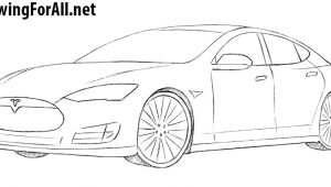 Tesla Model X Drawing Easy How to Draw A Tesla Model S Drawingforall Net