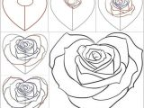 The Steps Of Drawing A Rose How to Draw A Rose Step by Step Easy Video Easy to Draw Rose Luxury