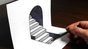 Trick Art Drawing 3d Easy How to Draw 3d Steps On Paper Easy Trick Art Optical Illusion