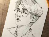 Tumblr Drawing Kpop 1281 Best Kpop Drawing Images Drawings Bts Boys Bts Drawings