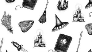 V Drawing Wallpaper Background Book Of Shadows Broom Drawings Halloween Witch