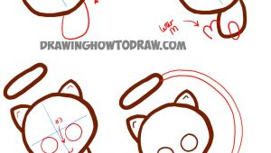 V Easy Drawing How to Draw Cute Baby Chibi Mew From Pokemon Easy Step by Step