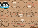 V Easy Drawing How to Draw Cute Kawaii Chibi Cartoon Penguins In A Scarf for