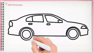 Very Easy Car Drawing How to Draw Simple Car Step by Step Learn Easy Drawing A Car