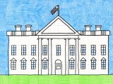 White House Drawing Easy Draw the White House A Art Projects for Kids