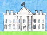 White House Drawing Easy Valentine Kitty Painting Art Projects House Drawing for