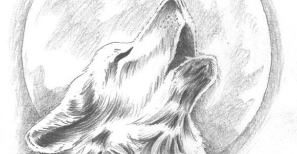 Wolf Drawing Color Easy Howling Wolf Tattoo Change the Moon to Our Dream Catcher Behind the