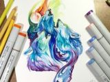 Wolf Drawing Markers 149 Best Waterslide Possibles Images Colorful Drawings Paintings