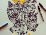 Wolf Drawing Markers and Out Come the Wolves Last Year I Put Down the Pencils for A Few