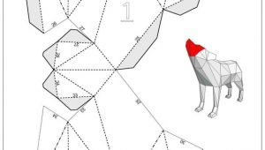 Wolf Drawing Template Howling Wolf Papercraft Template Instant Download Products