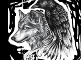 Wolf Drawing Transparent Ravenwolf Google Search Adelle Leclair Tattoos Raven Tattoo