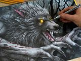 Wolf Drawing Tutorial Youtube Drawing Werewolf Youtube