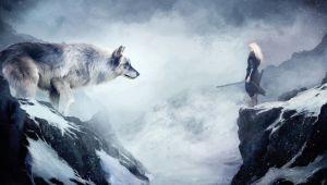 Wolf Drawing Wallpaper 4k Wallpaper Wolf 4k Hd Wallpaper Mountain Girl Animals Winter