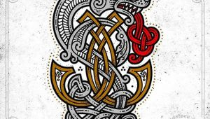 Wolf Viking Drawing Celtic Art Monogram with A Wolf Vector Graphics Pencil Sketch