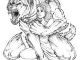 Wolfman Drawing I Want to Make Violent Love to You by the Moon Above I Want to Make