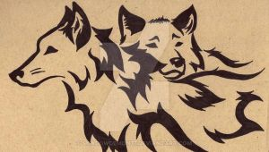 Wolves Mating Drawing Tribal Wolf Mates Three by Shadowdemon77 On Deviantart Pyrography