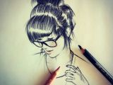 X Girl Drawing Girls with Glasses X Doodles Drawings Art Und Pencil Art